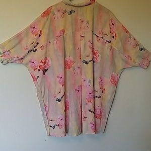 Melissa McCarthy Tops - Melissa McCarthy floral blouse size 2X